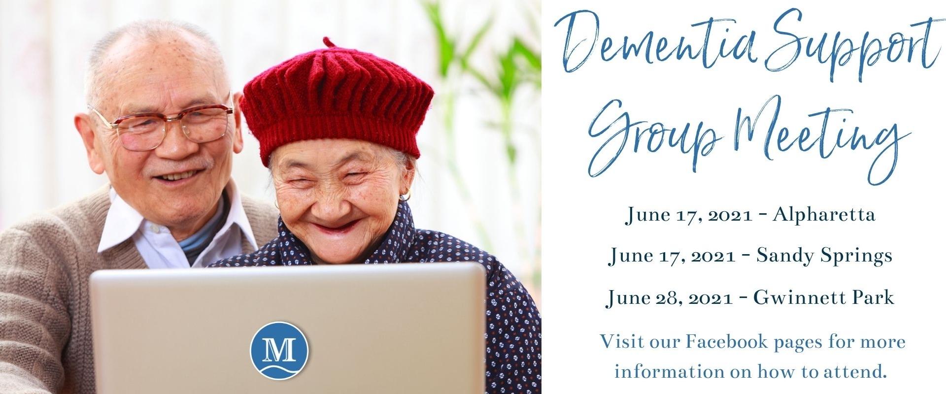 June Virtual Dementia Suport Group Meeting 20210601