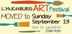 MOVED to Sunday – 43rd Annual Lynchburg Art Festival