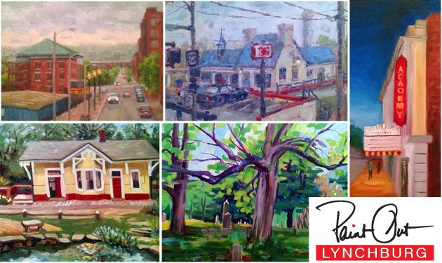 Paint Out Lynchburg Exhibition – May 2016