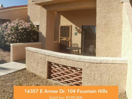 16357 E Arrow Dr. 104 Fountain Hills, AZ 85268