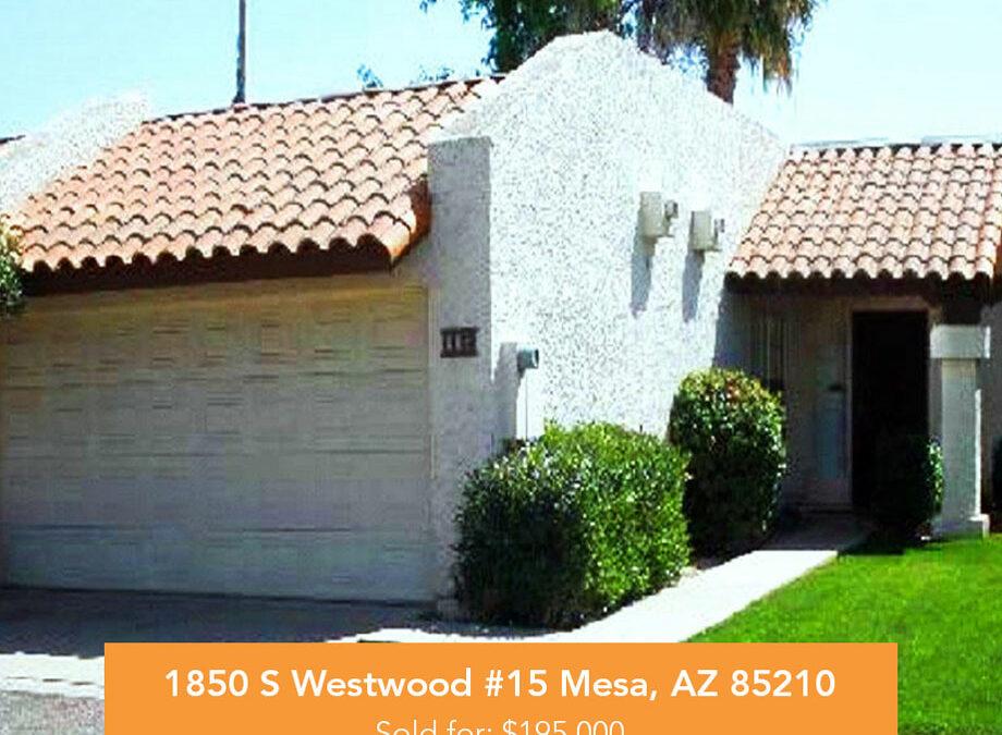 1850 S Westwood #15 Mesa, AZ 85210