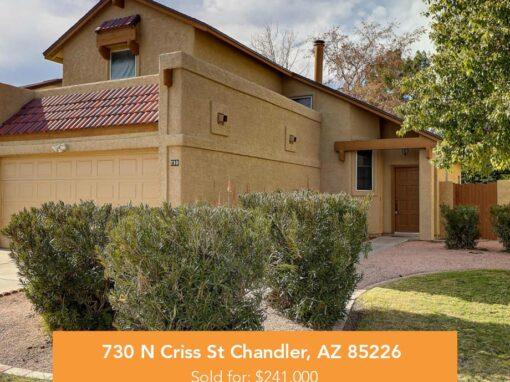 730 N Criss St Chandler, AZ 85226