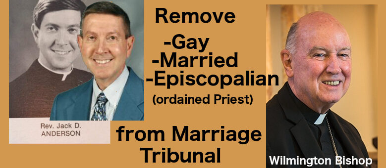 Gay Married Priest is not suited to Defend the Bond of Marriage