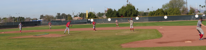 photo of MCC's Thunderbirds practice to prepare for the new season. Photo by Aaron Bartlett / Mesa Legend