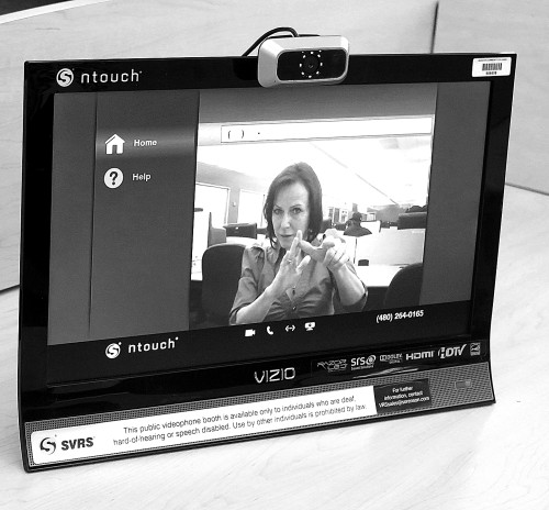 photo of videophone console