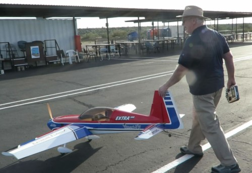Photo: Jim Legg rolls his Extra 300 off the the runway after a satisfying flight