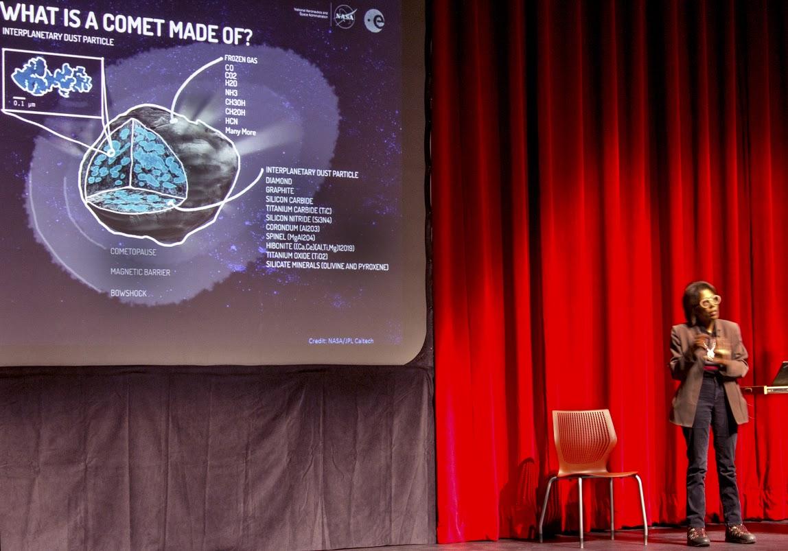 Claudia Alexander, a NASA research scientist, spoke at MCC