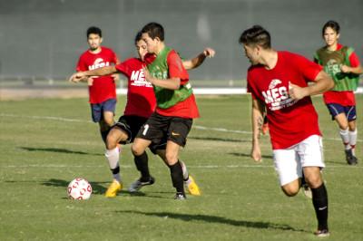 men's soccer players