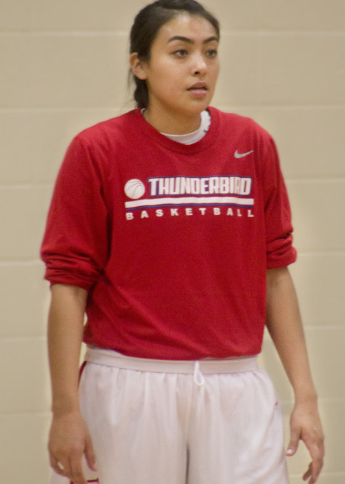 Briana Clah is a guard for the Lady T-Birds, and was recently recognized for the skill she demonstrates on the team.