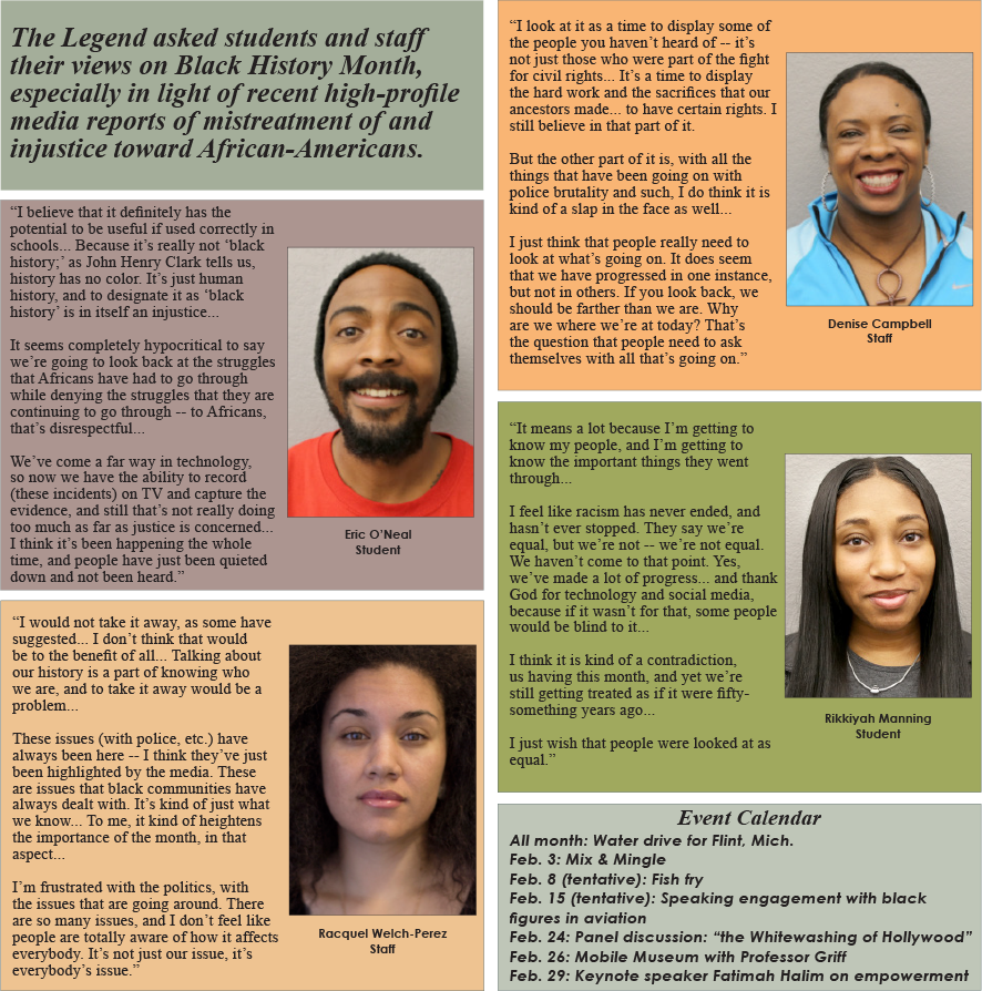 Black students and staff give their views on black history