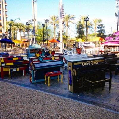 Colorful Pianos in downtown Mesa