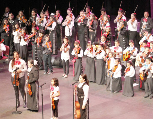The final performance of the concert included beginner and advanced students. Tania Ritko/Mesa Legend