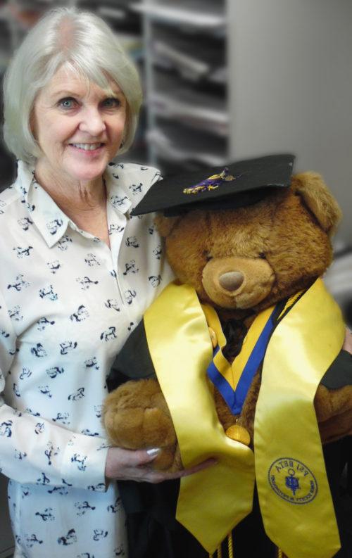Professor with bear