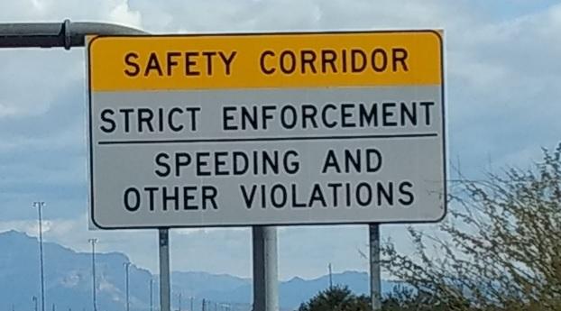 Safety Corridor sign