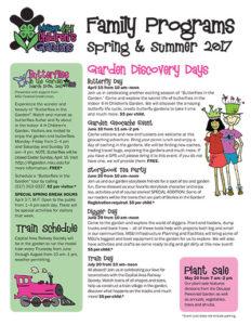 Michigan 4-H Children's Gardens Spring & Summer Calendar 2017