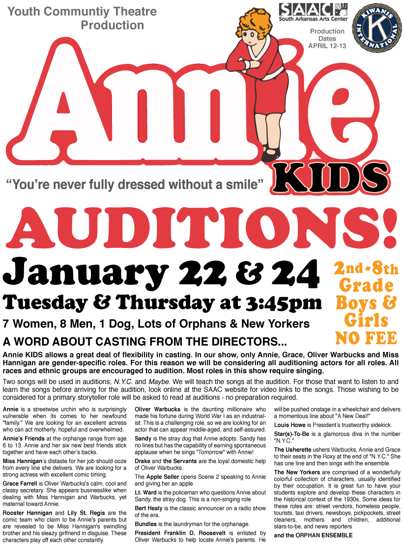 """Annie"" auditions"