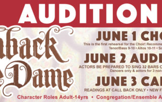 Hunchback of Notre Dame Auditions