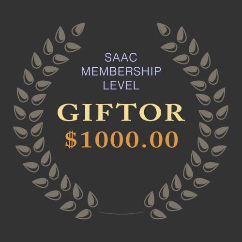 SAAC Membership - Giftor Level