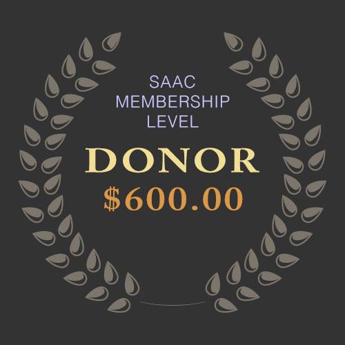 SAAC Membership - Donor Level