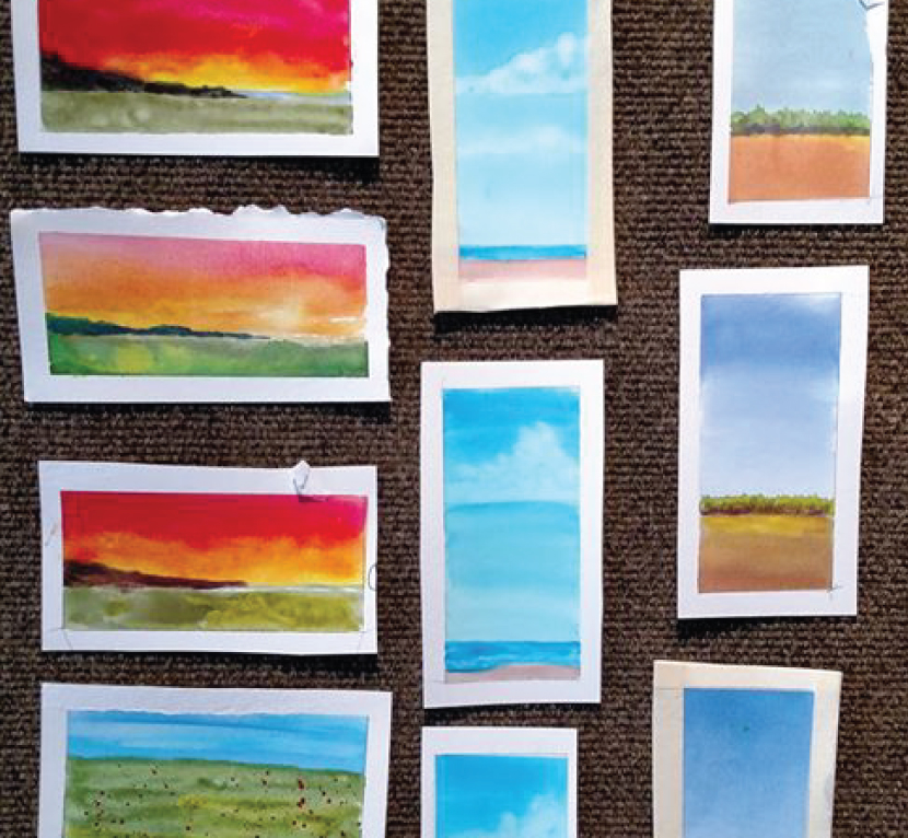 """NEW Corks and Canvas Digital Workshop """"Little Landscapes"""" • April 30"""
