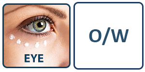 Eye cream applied to show our enhanced skincare formulations with phytoglycogen