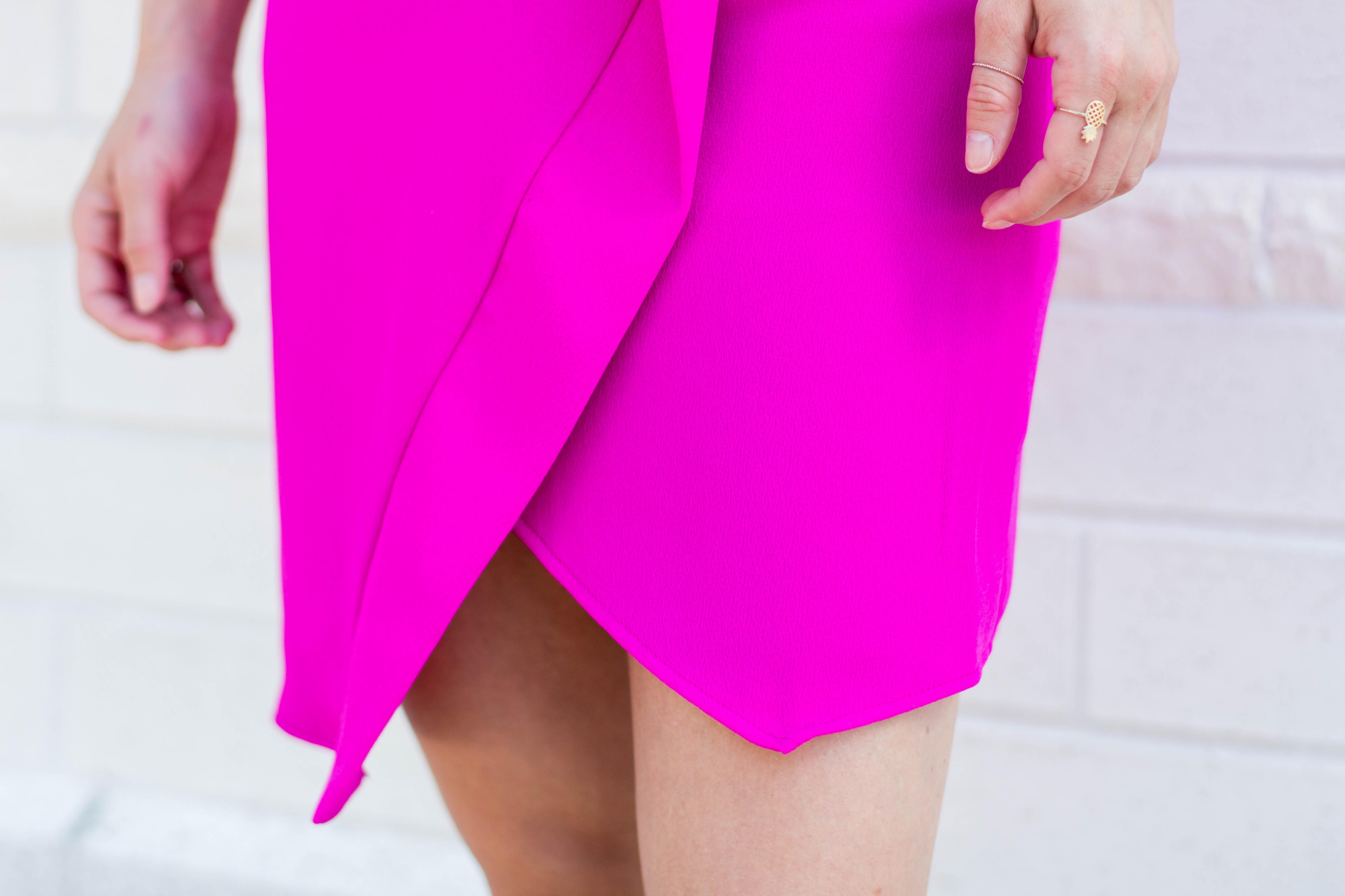 Not Necessarily Blonde_Hot Pink Dress-116