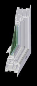 Cross Section of Replacement Impact Windows