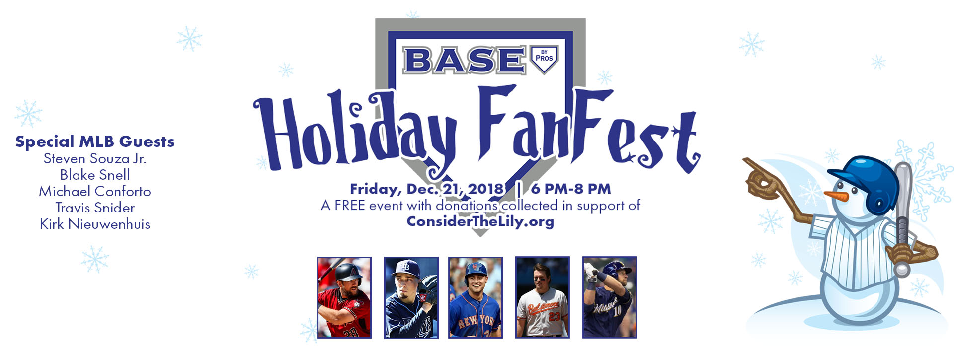 2018 BASE by Pros Holiday FanFest, Dec. 21st