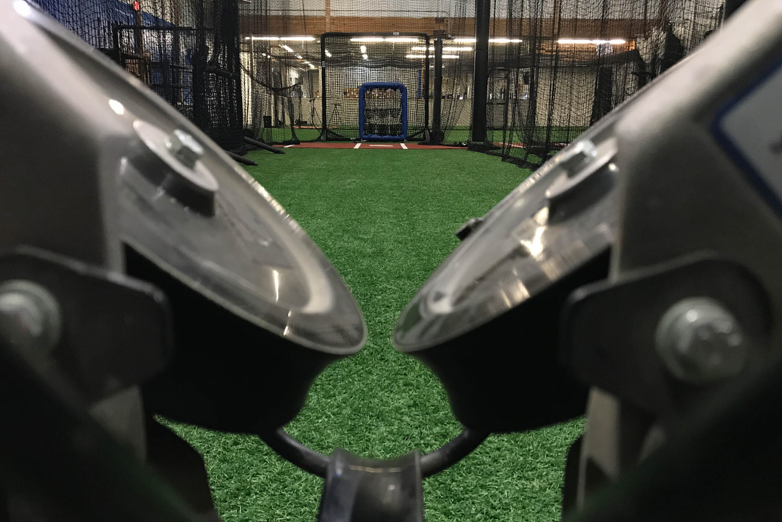 View Down the Barrel of a BASE by Pros Pitching Machine