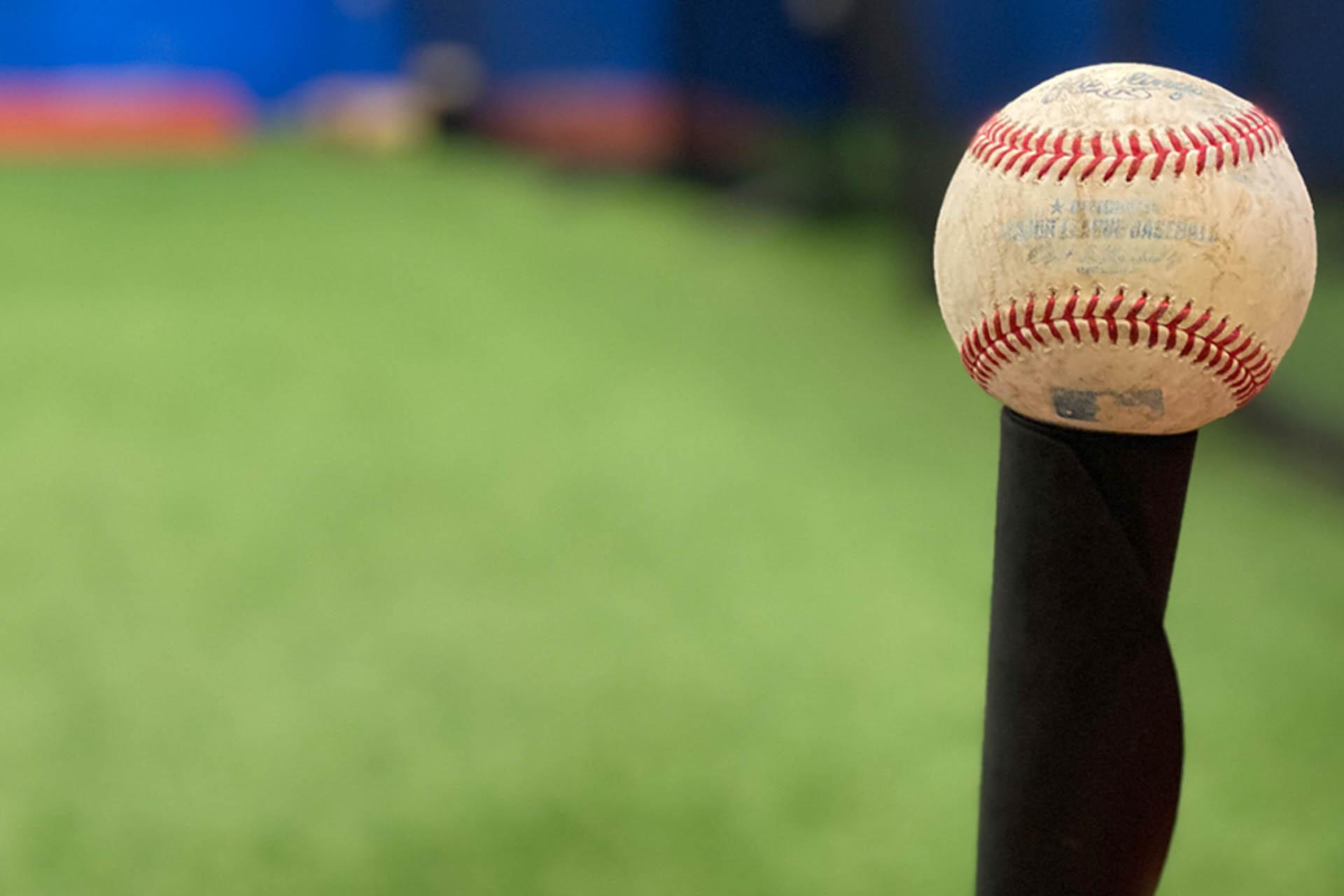 Baseball on Tee