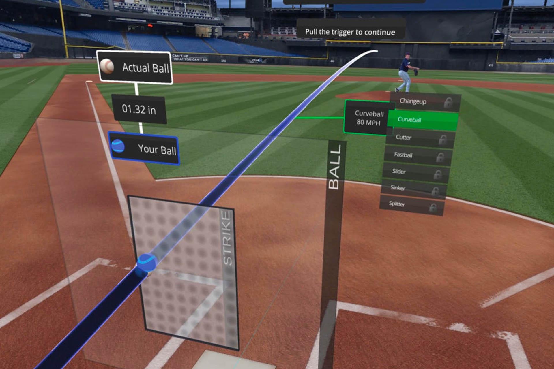 Win Reality Virtual Reality Baseball Training Screenshot