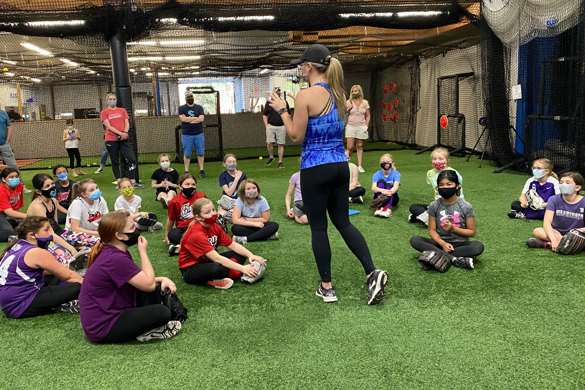 Coach Danielle Orvella Teaches Pitching Clinic