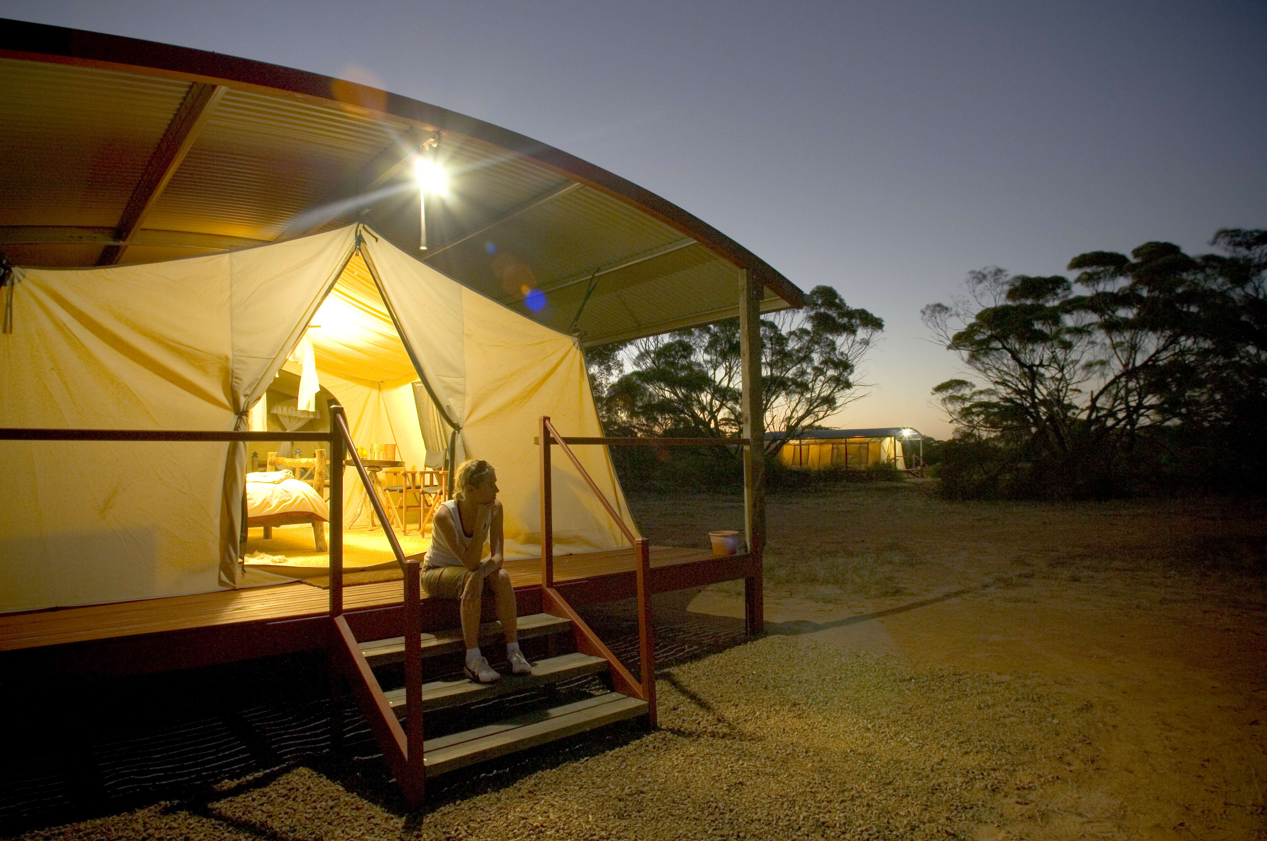 South Australia's Eyre – Kangaluna Camp – tents