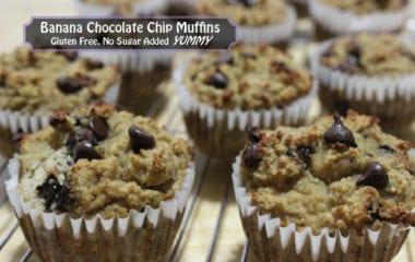 nutraphoria banana chocolate chip muffins gluten free