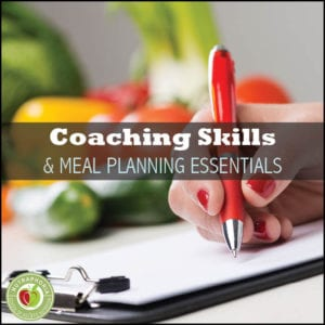 meal planning coaching skills course nutraphoria