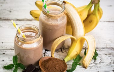 chocolate banana morning smoothie nutraphoria