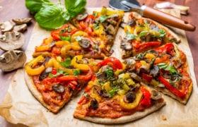 Mushroom Pepper and Garlic Pizza Nutraphoria