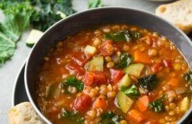 Vegan Lentil Soup Nutraphoria