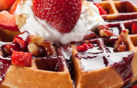 Strawberry Gluten-Free Waffles Nutraphoria