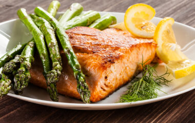 Maple Syrup Salmon With Asparagus