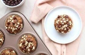 Oatmeal Chocolate Chip Banana Blender Muffins