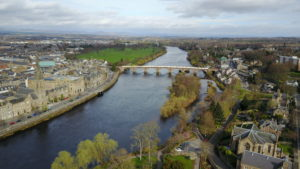 Drone Shot of the River - kktravelsandeats
