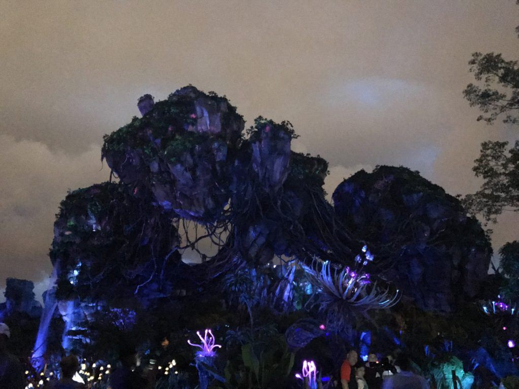 Floating Rocks at Night