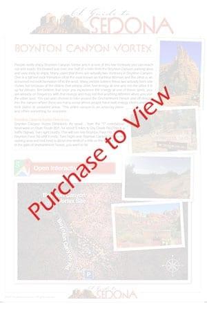 Boynton Canyon Vortex Map - Sedona Vortexes Map - AGuidetoSedona