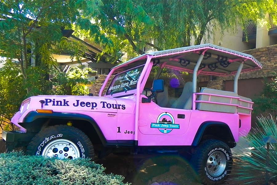 Broken Arrow Jeep Tour Sedona AZ Pink Jeep Tours