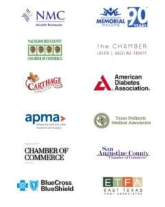 Composite of all logos for Chambers, associations and insurance