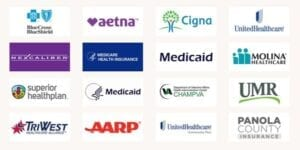 Insurance plans accepted by Dr. Daugherty - mobile picture of all logos