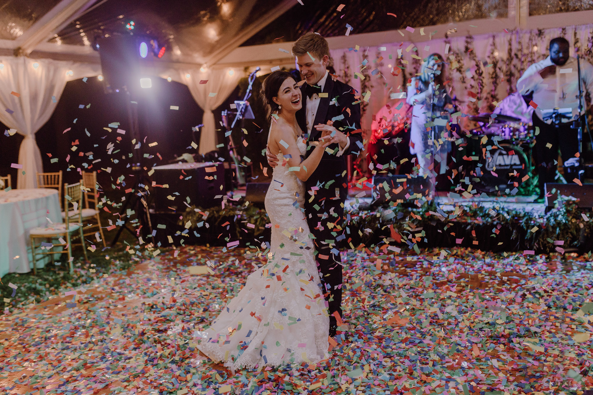 Wedding confetti send off