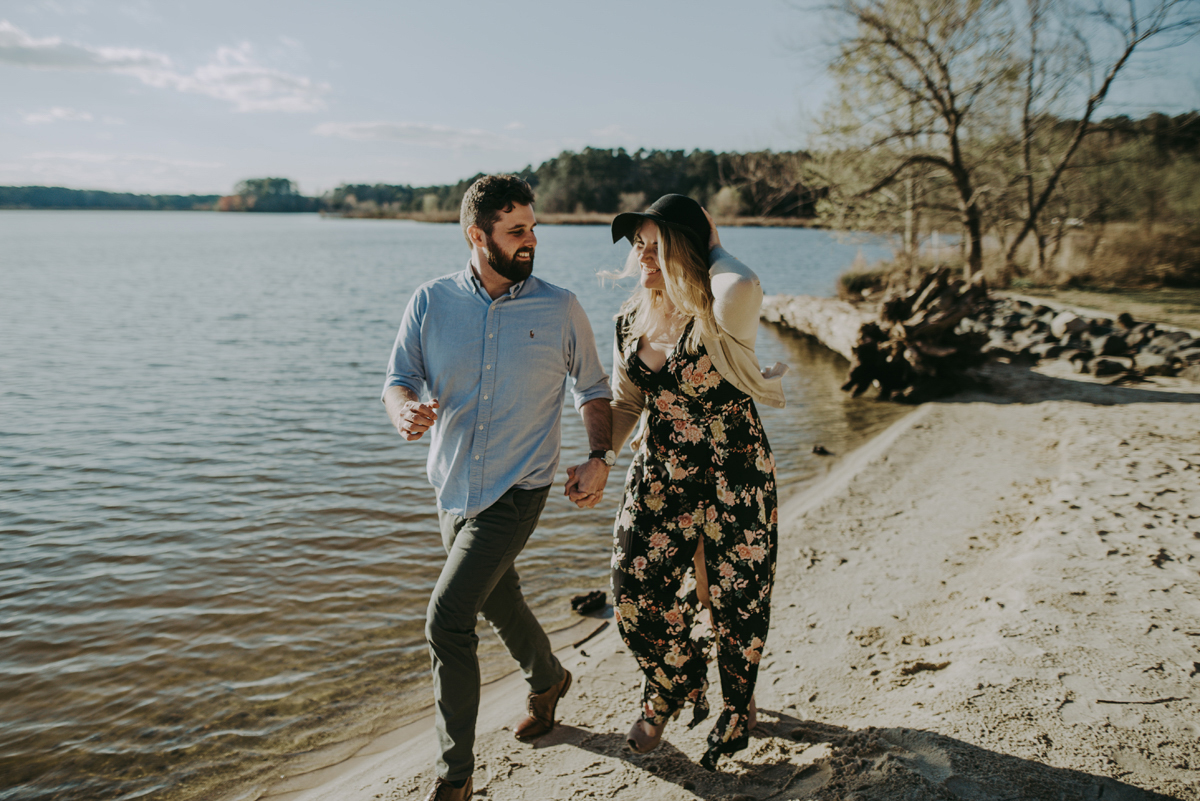 Engagement by the lake