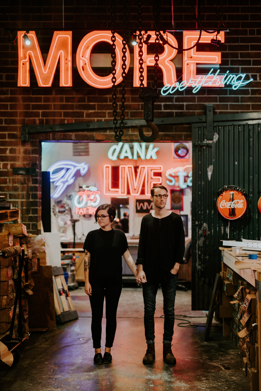 Engagement Session with Neon Signs